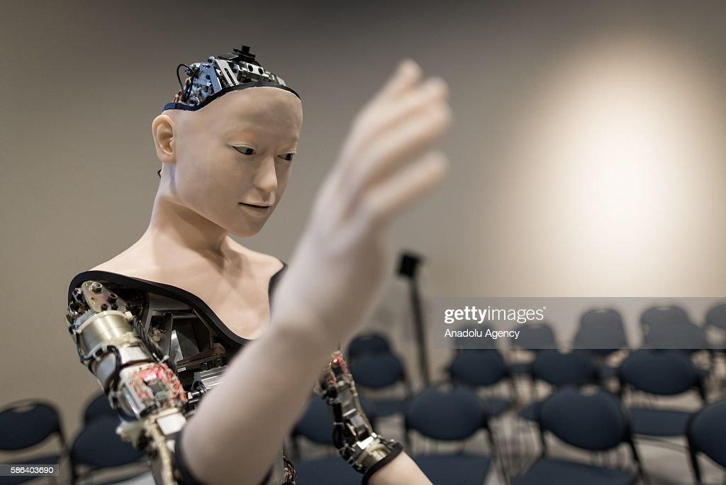 Japanese humanoid robot is on display : News Photo
