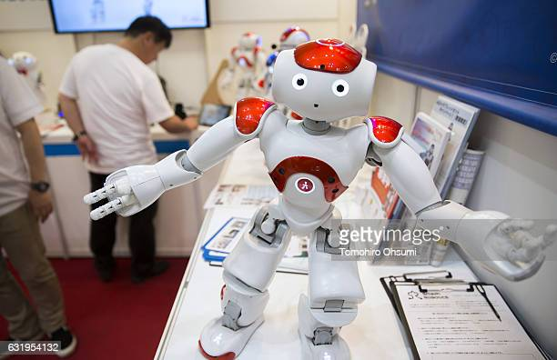 NAO humanoid robot developed by Aldebaran Robotics SA performs at the Robodex trade show on January 18 2017 in Tokyo Japan Approximately 160...