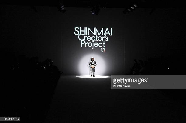 Humanoid Robot Hrp-4C Opens The Japan Fashion Week In Tokyo, Japan On March 23, 2009 - Her first job of robot HRP-4C, newly born humanoid robot is...