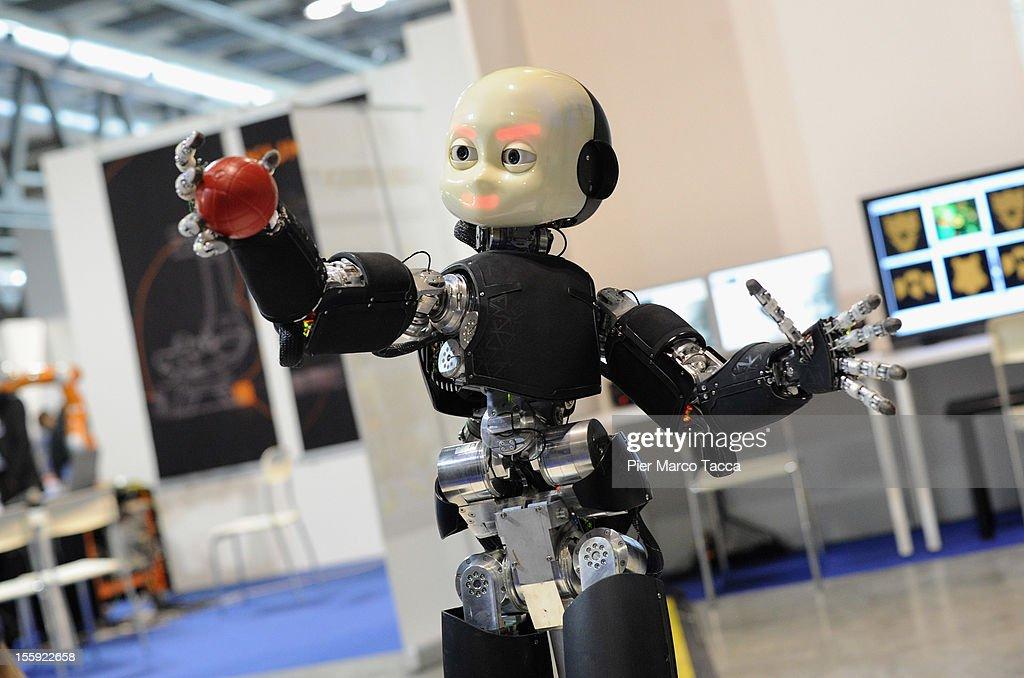 2012 Robotica Humanoid And Service Robots Expo At Milan Fair Center : News Photo