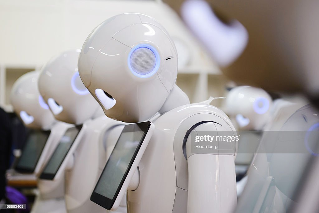 Inside SoftBank Corp. Development Workshops For The Company's Humanoid Robot Pepper : News Photo