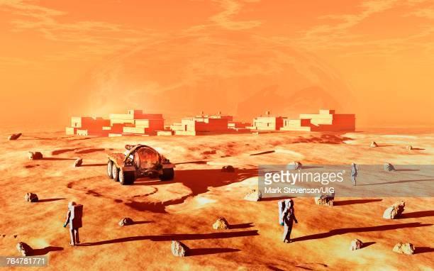 Humans Terraforming Mars.