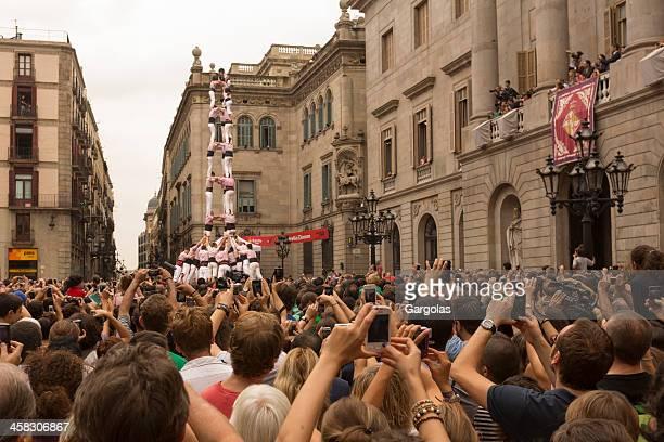 Seres humanos Tower concurso en Barcelona mercè 2012