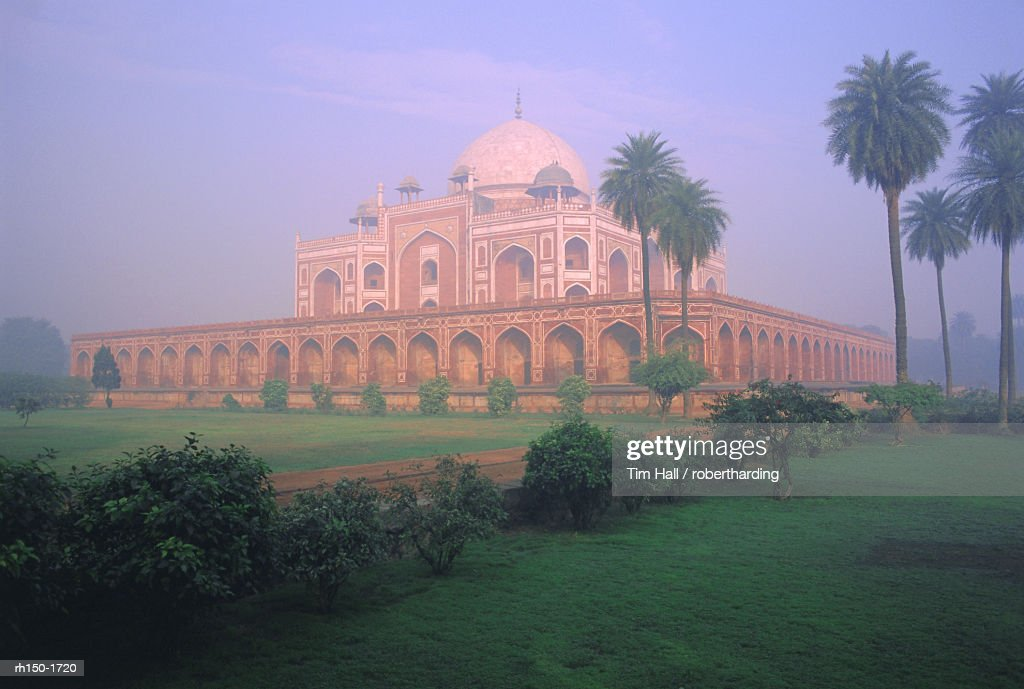 Humayun's tomb and library, Delhi, India, Asia : Foto de stock