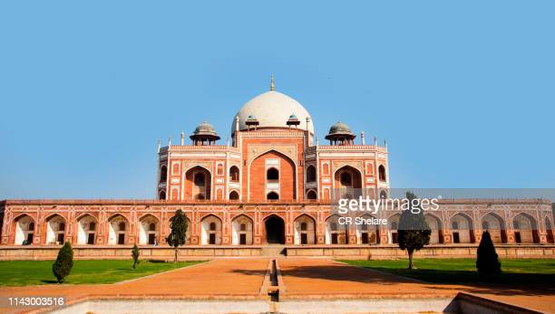humayun's tomb, delhi, india, the tomb of the mughal emperor humayun built in 1565, unesco world heritage site - palast stock-fotos und bilder