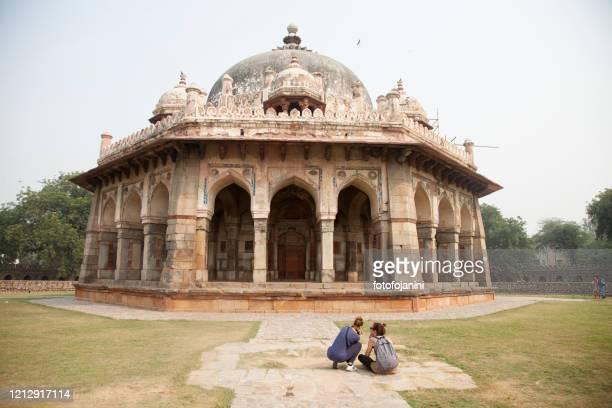 humayun's tomb in delhi, india - fotofojanini foto e immagini stock