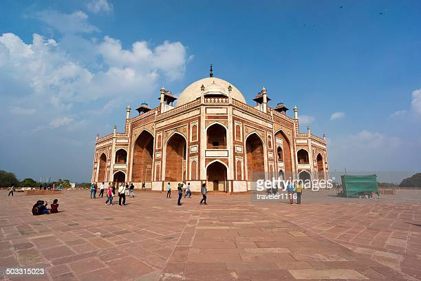 humayun's tomb in delhi, india - humayun's tomb stock pictures, royalty-free photos & images