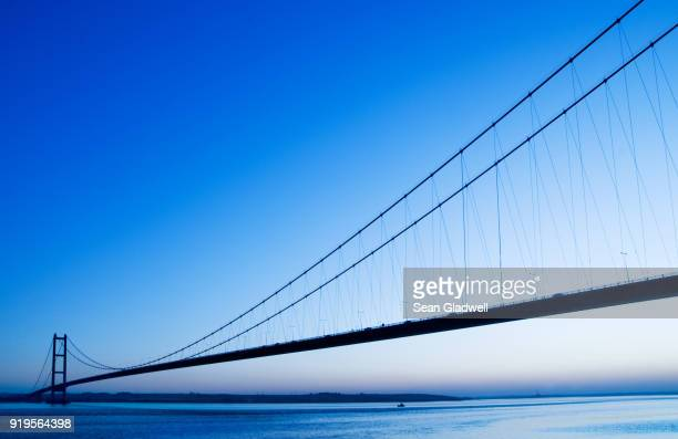 humber bridge blue hour - prop stock pictures, royalty-free photos & images