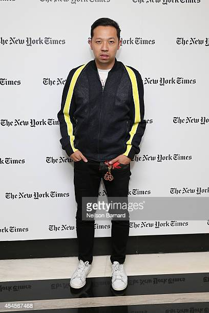Humberto Leon attends the New York Times Vanessa Friedman and Alexandra Jacobs welcome party on September 3 2014 in New York City