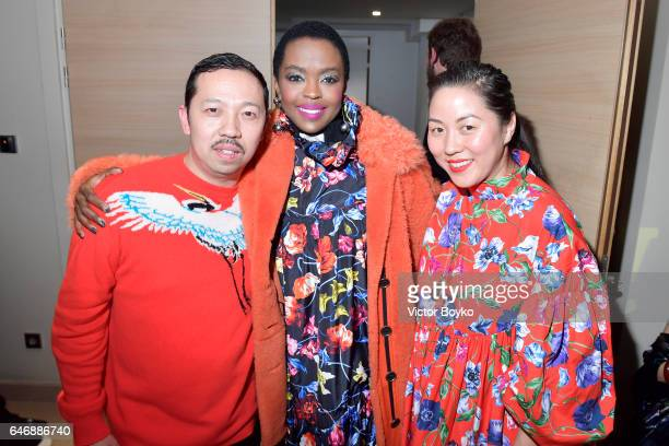 Humberto Leon Lauryn Hill and Carol Lim attend Kenzo La Collection Momento N°1 event at Kenzo Headquarters on March 1 2017 in Paris France