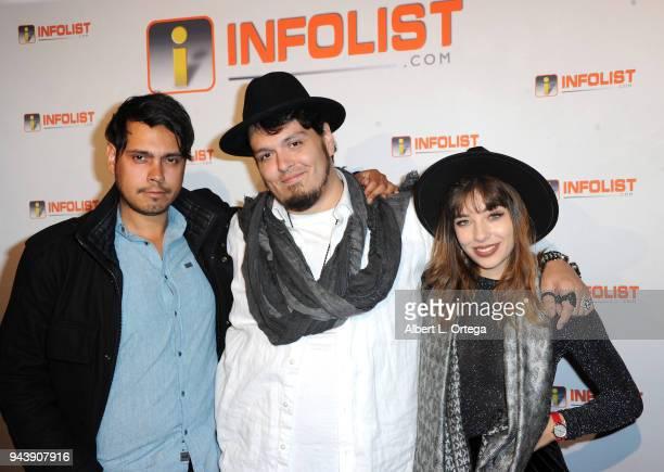 Humberto Rosa Marcio Freitas and Luisa De Aquino attend the INFOListcom's PreOscar Soiree and Jeff Gund Birthday Party held at Mondrian Sky Bar on...