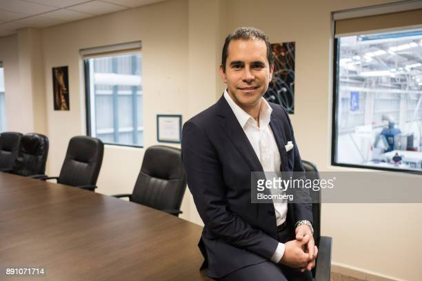 Humberto Santiago Martens vice president of Mexico operations for Tighitco Inc sits for a photograph at the company's manufacturing facility in San...
