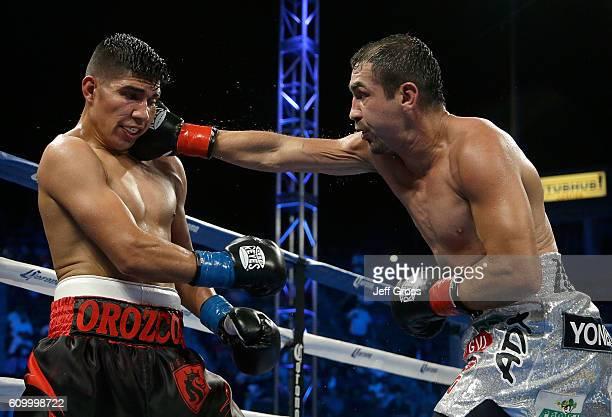 Humberto Soto throws a right hand at Antonio Orozco at StubHub Center on October 3 2015 in Carson California