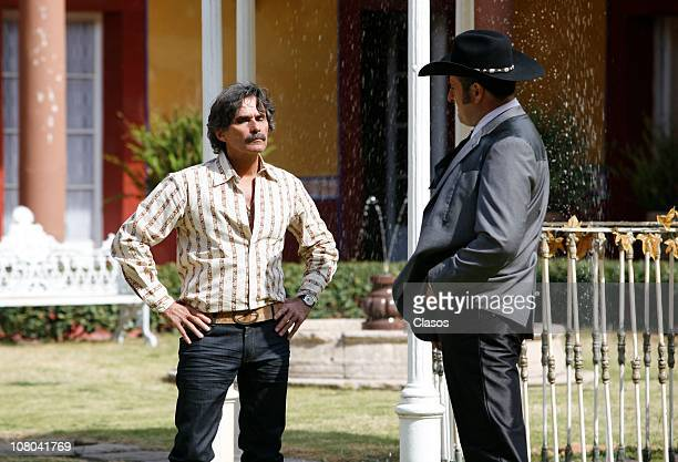 Humberto Zurita and Alejandro Calva during the recording of the TV series La Reina Del Sur at San Miguel Ometusco farm Mexico state on January 13...