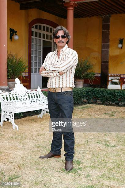 Humberto Zurita during the recording of the TV series La Reina Del Sur at San Miguel Ometusco farm Mexico state on January 13 2011 in Mexico