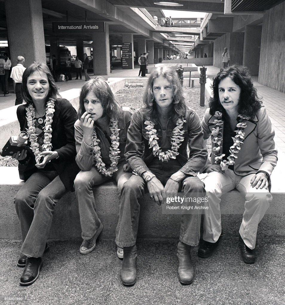 Humble Pie Group Portrait Honolulu Airport Hawaii United States 1972