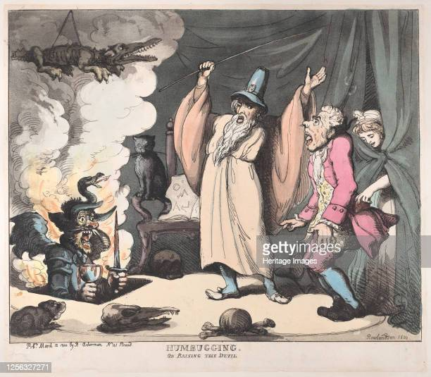 Humbugging or Raising the Devil March 12 1800 Artist Thomas Rowlandson