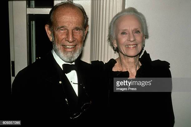Hume Cronyn and Jessica Tandy circa 1990 in New York City