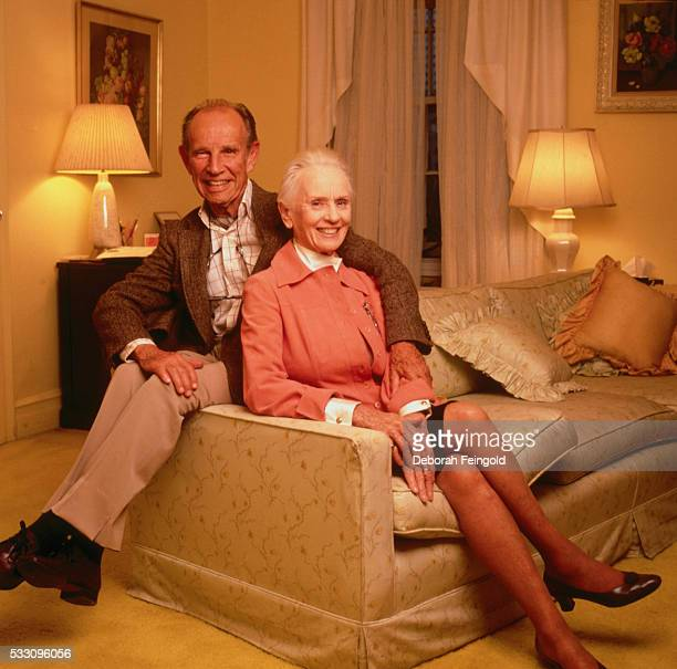 Hume Cronyn at Home with Wife Jessica Tandy