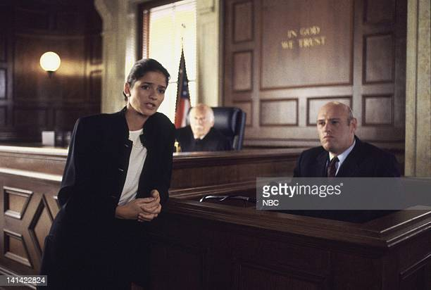 LAW ORDER Humiliation Episode 7 Aired Pictured Jill Hennessy as ADA Claire Kincaid Leslie Barrett as Judge Lewis Getman James Michael McCauley as CSU...