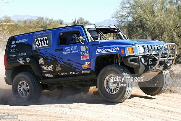 Hummer H3 is driven by Rod Hall on a dirt track in Bouse Arizona Saturday Feb 17 2007 This year Rod Hall will celebrate his 70th birthday just as he...