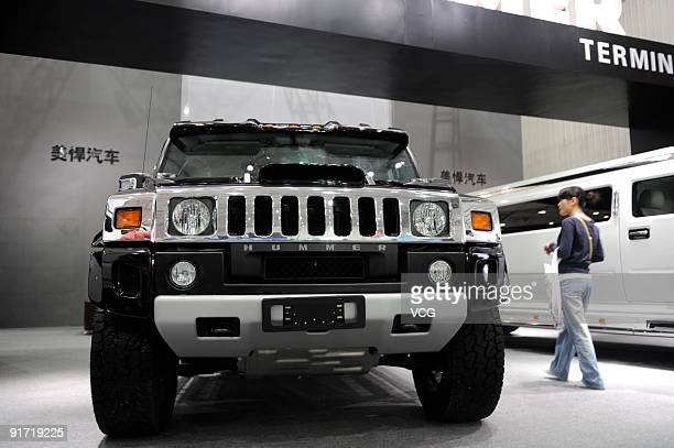 A Hummer is seen on October 10 2009 in Chengdu of Sichuan Provience China General Motors Co has signed an agreement to sell its legendary and iconic...