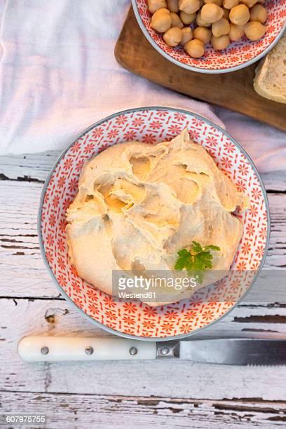 hummus, chickpeas cream, chickpeas, bowl - ハマス ストックフォトと画像