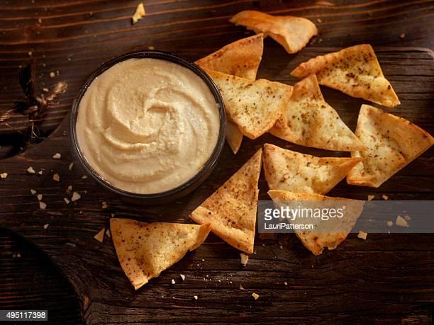 Chips de pain Pita, houmous