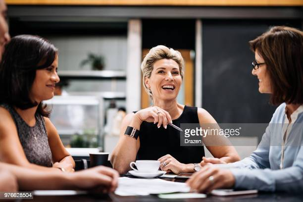 Humor and laughter on business meeting