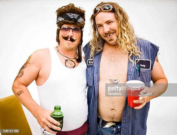 humor: white trash series - mullet stock photos and pictures