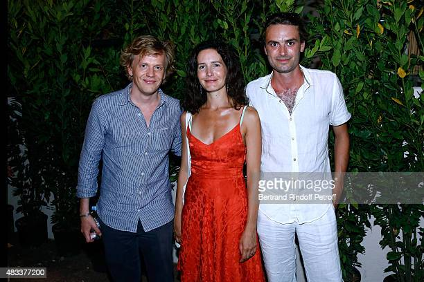 Humorist Alex Lutz Actress Chloe Lambert and her husband producer Thibault Ameline attend the 'La Venus a la Fourrure' Theater play during the 31th...