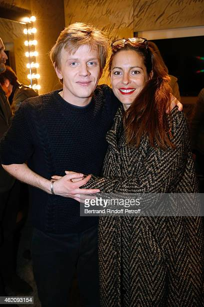 Humorist Alex Lutz and actress Audrey Dana attend Alex Lutz in his One man Show at L'Olympia on January 24 2015 in Paris France