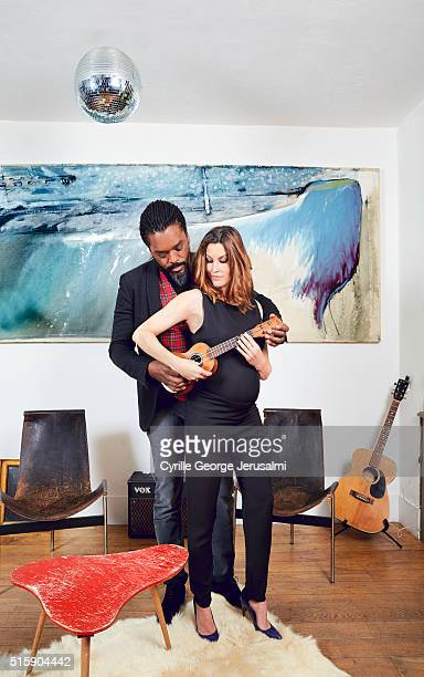 Humorist Anthony Kavanagh and his wife are photographed for Gala on March 4 2016 in Paris France