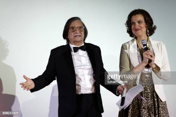 Humorist Armelle attends tribute to JeanPierre Leaud during Valenciennes Film Festival on March 21 2018 in Valenciennes France