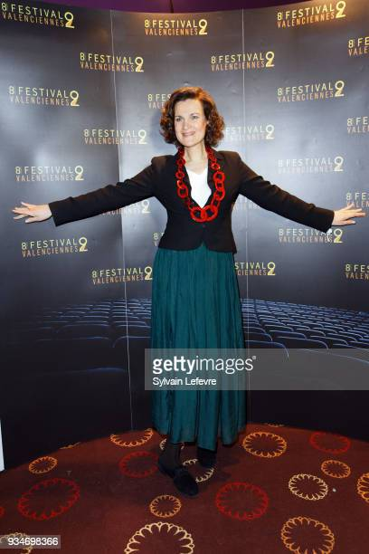 Humorist Armelle attends Valenciennes Film festival photocall for opening ceremony of Documentary Competition on March 19 2018 in Valenciennes France