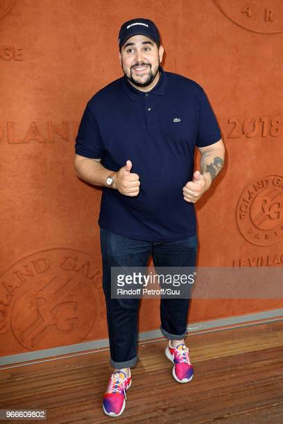 Humorist Artus attends the 2018 French Open Day Eight at Roland Garros on June 3 2018 in Paris France