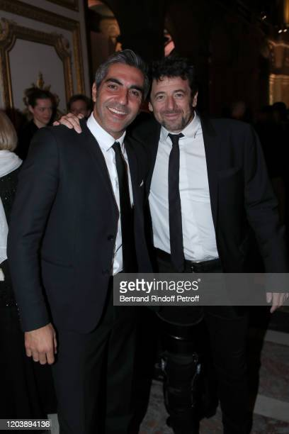 """Humorist Ary Abittan and singer Patrick Bruel attend the 20th Gala Evening of the """"Paris Charter Against Cancer"""" for the benefit of the..."""