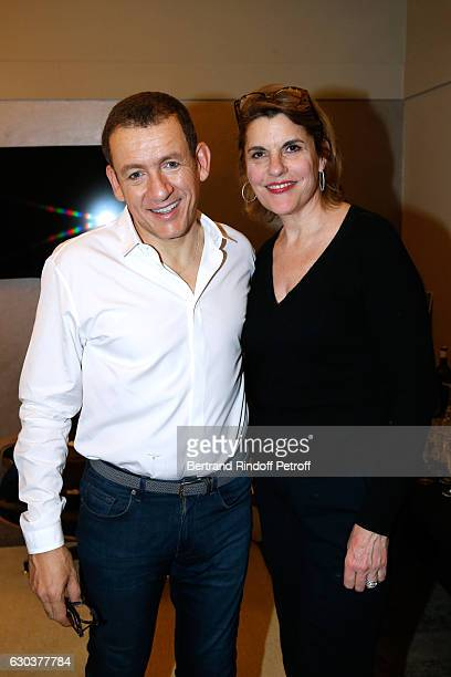 Humorist Dany Boon and daughter of Sylvie Joly Mathilde Vitry pose Backstage after the triumph of the Dany De Boon Des HautsDeFrance Show at...