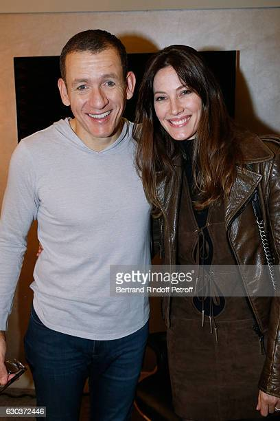 Humorist Dany Boon and Mareva Galanter pose Backstage after the triumph of the Dany De Boon Des HautsDeFrance Show at L'Olympia on November 28 2016...