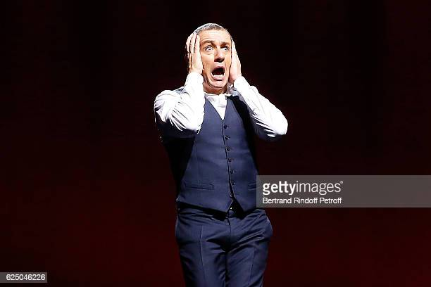Humorist Dany Boon performs during his Dany De Boon Des HautsDeFrance Show at L'Olympia on November 13 2016 in Paris France