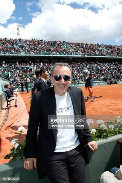 Humorist Elie Semoun attends the 2017 French Tennis Open Day Ten at Roland Garros on June 6 2017 in Paris France