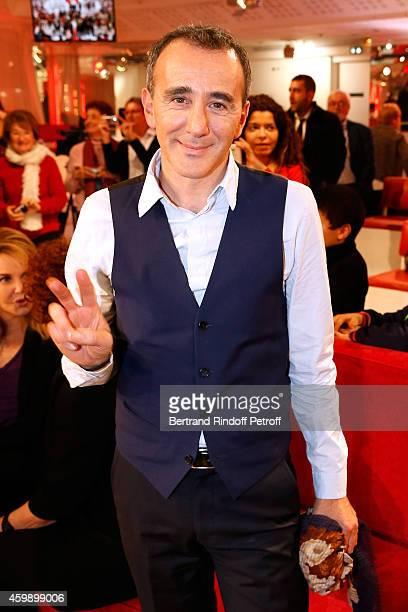 Humorist Elie Semoun presents his show 'A partager' at 'La nouvelle Eve' during the 'Vivement Dimanche' French TV Show special Album 'La bande a...