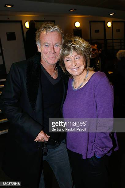 Humorist Fanck Dubosc and director Daniele Thompson pose Backstage after the triumph of the 'Dany De Boon Des HautsDeFrance' Show at L'Olympia on...