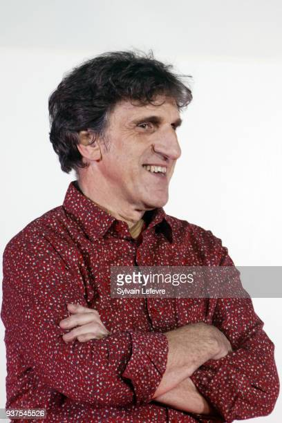 Humorist Gilles Benizio aka Dino of Shirley and Dino and Anny Duperey attend the tribute to Anny Duperey during the closing ceremony of Valenciennes...