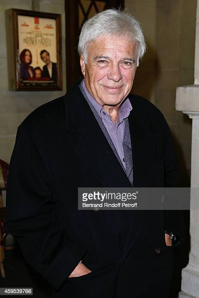 Humorist Guy Bedos attends the 'Ma Vie Revee' Michel Boujenah One Man Show at Theatre Edouard VII on November 24 2014 in Paris France