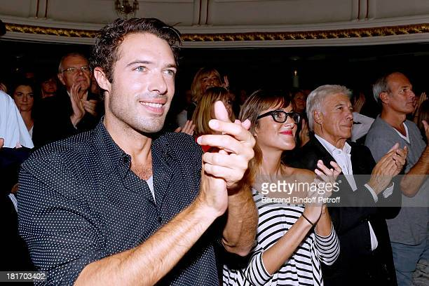 Humorist Guy Bedos with his children Nicolas and Victoria attend Muriel Robin show 'Robin revient 'Tsoin Tsoin'' Premiere at Porte SaintMartin...