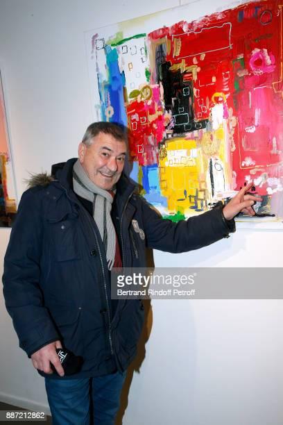 Humorist JeanMarie Bigard attends painter Caroline Faindt Exhibition Opening at 'L'Espace Reduit' on December 6 2017 in Paris France