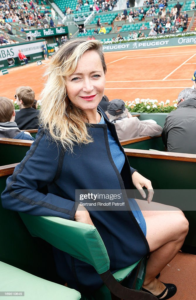 Humorist Julie Ferrier attends Roland Garros Tennis French Open 2013 - Day 1 on May 26, 2013 in Paris, France.