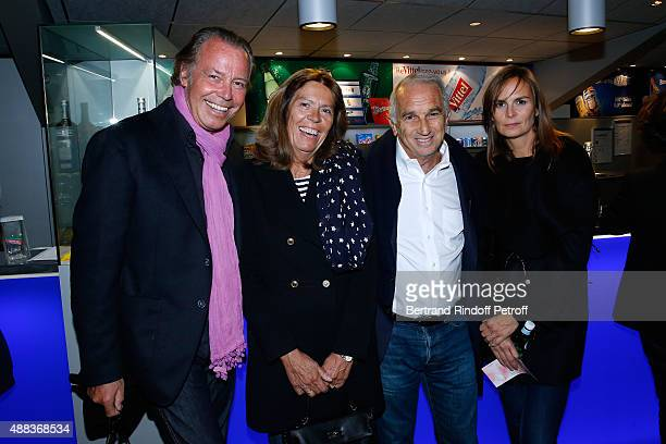 Humorist Michel Leeb with his wife Beatrice and Cesar Academy President Alain Terzian with his wife Brune de Margerie attend the Concert of singer...