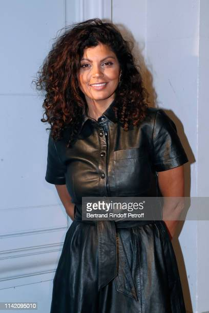 Humorist Nawell Madani attends the I am not a Rapper Capsule Collection Launch Party Photocall on April 11 2019 in Paris France